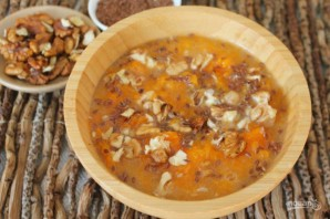 Каша из тыквы с семенами льна и орехами - фото шаг 5