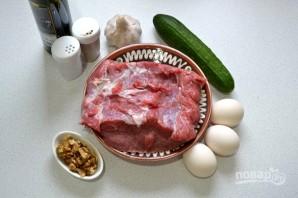 Салат с говядиной и яичными блинчиками - фото шаг 1