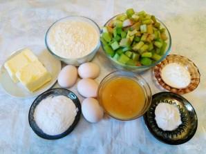 Кекс медовый с ревенем - фото шаг 1