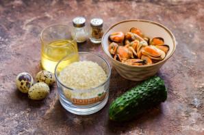 Салат с мидиями и рисом - фото шаг 1
