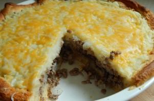 Заливной пирог с мясом и картошкой - фото шаг 4
