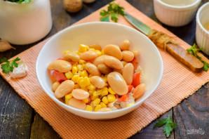 Салат с фасолью и брынзой - фото шаг 5