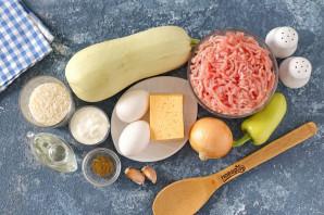 Запеканка из кабачков с рисом и фрикадельками - фото шаг 1
