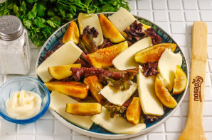 Салат с инжиром и моцареллой - фото шаг 4