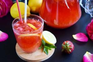 Домашний клубничный лимонад с мятой - фото шаг 9