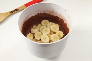 Шоколадно-банановый пирог - фото шаг 5