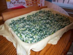 Слоеный пирог с брокколи и сыром - фото шаг 4