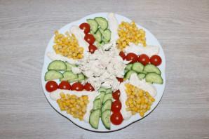 Салат с куриной грудкой и помидорами - фото шаг 8