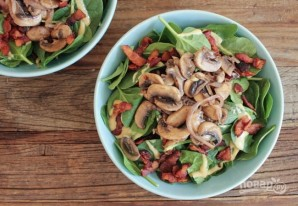Салат из жареных грибов - фото шаг 7