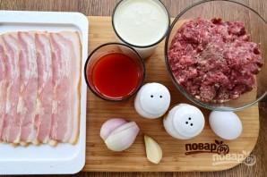 Фрикадельки с беконом в сливочно-томатном соусе - фото шаг 1