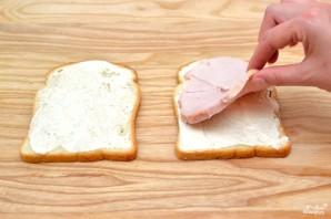 Сэндвич с ветчиной - фото шаг 2