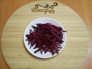 Маринованная цветная капуста со свеклой - фото шаг 3