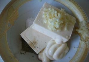 Лаваш с огурцом и сыром - фото шаг 1