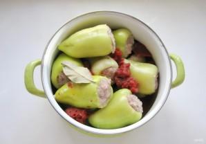 Перец, фаршированный свининой и баклажанами - фото шаг 9