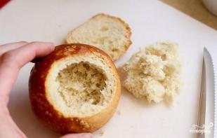 Яичница в хлебном горшочке - фото шаг 1