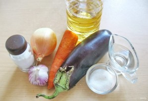 Салат из баклажанов с луком и морковью на зиму - фото шаг 1