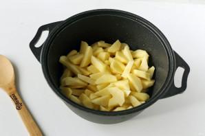 Картошка с грибами в казане - фото шаг 4