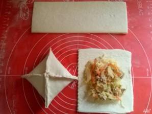 Пирог из слоеного теста с капустой - фото шаг 4
