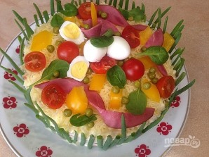 "Торт-салат ""Оливье"" - фото шаг 9"