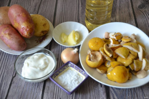 Жареные сыроежки с картошкой - фото шаг 1