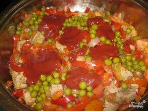 Свинина с болгарским перцем - фото шаг 4