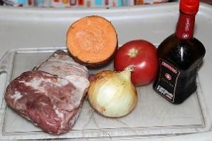 Свинина с овощами в мультиварке - фото шаг 1