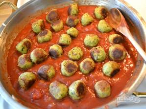 Фрикадельки из нута в томатном соусе - фото шаг 11