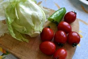 Салат с зеленым омлетом и говядиной гриль - фото шаг 3