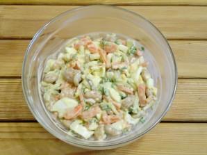 Салат с фасолью и солеными огурцами - фото шаг 7