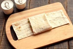 Конвертики из лаваша с мясом и сыром - фото шаг 6