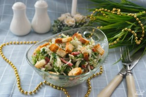 Салат с салями и сухариками - фото шаг 5