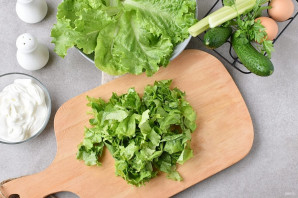 Салат со сметаной - фото шаг 2