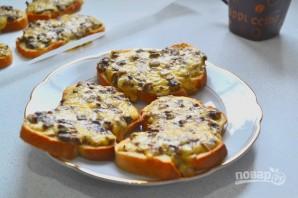 Горячие бутерброды с шампиньонами и сыром - фото шаг 10