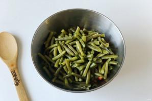 Салат со стручковой фасолью и ветчиной - фото шаг 6