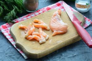 Бутерброды с рикоттой и красной рыбой - фото шаг 6