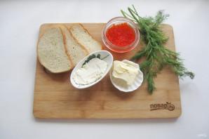 Бутерброды с красной икрой на Новый Год - фото шаг 1