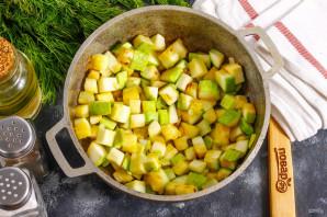 Суп из кабачков с креветками - фото шаг 4