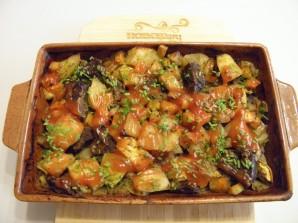 Печень с овощами в духовке - фото шаг 7
