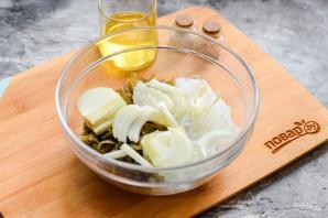 Салат с фунчозой и морской капустой - фото шаг 5