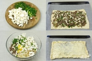 Греческий пирог с брынзой и мясом - фото шаг 2