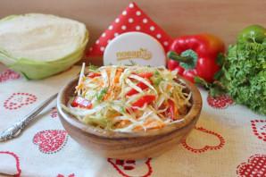 Осенний салат из капусты - фото шаг 8