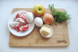 Крабовый салат с яблоком - фото шаг 1