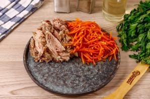 Салат кучками с корейской морковкой - фото шаг 3