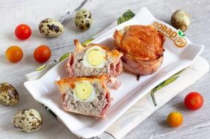 Мясные кексы с перепелиными яйцами - фото шаг 10