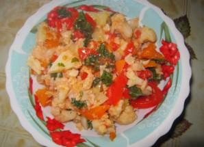 Цветная капуста с овощами - фото шаг 4
