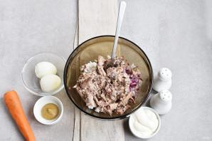 Салат из сайры консервированной - фото шаг 2