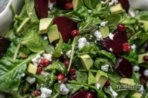 Салат со свеклой и рукколой - фото шаг 4
