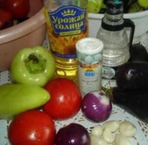 Баклажаны с овощами на зиму - фото шаг 1