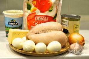 Салат нежный с ананасом и курицей - фото шаг 1