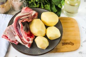 Козлятина в духовке с картошкой - фото шаг 1